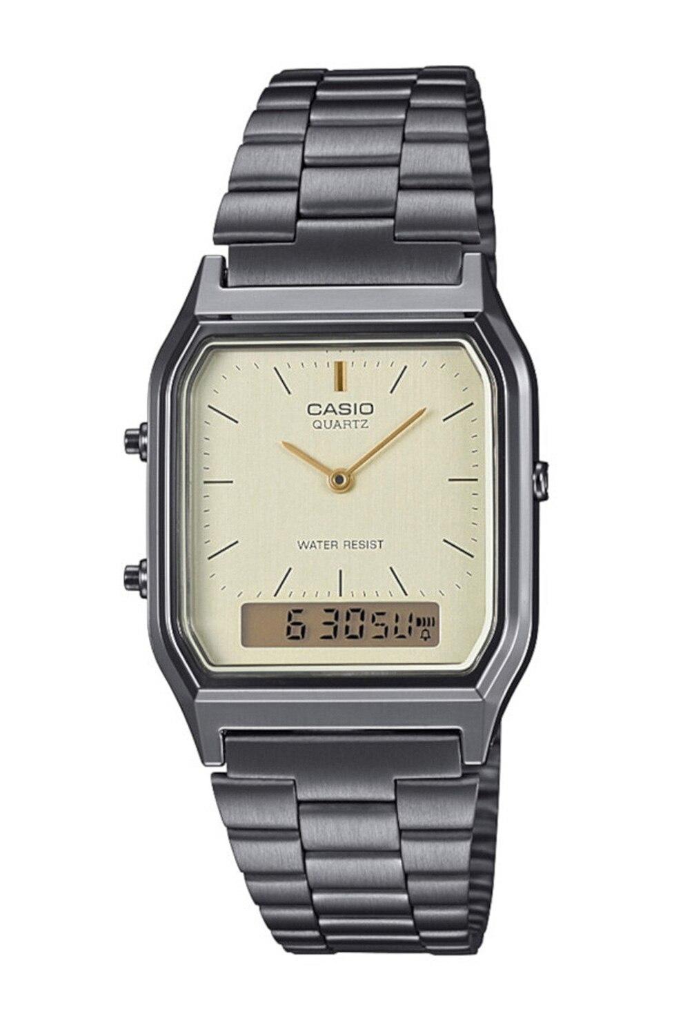 Fotografie Casio, Ceas din otel inoxidabil, Argintiu inchis