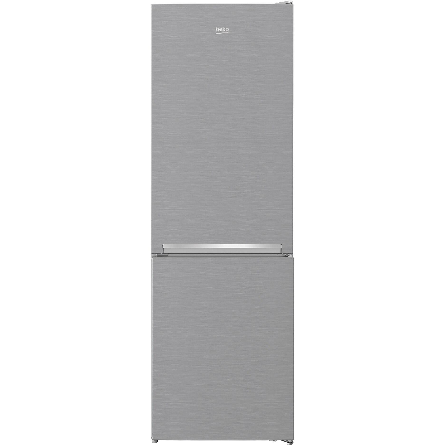 Fotografie Combina frigorifica Beko RCNA366K40XBN, 324 l, Clasa E, NeoFrost, KitchenFit, H 186 cm, Argintiu