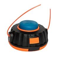 Micul Fermier XH-001 damilfej fűkaszához, kék gombbal, 1.3-4 mm átmérő, narancssárga/fekete szín