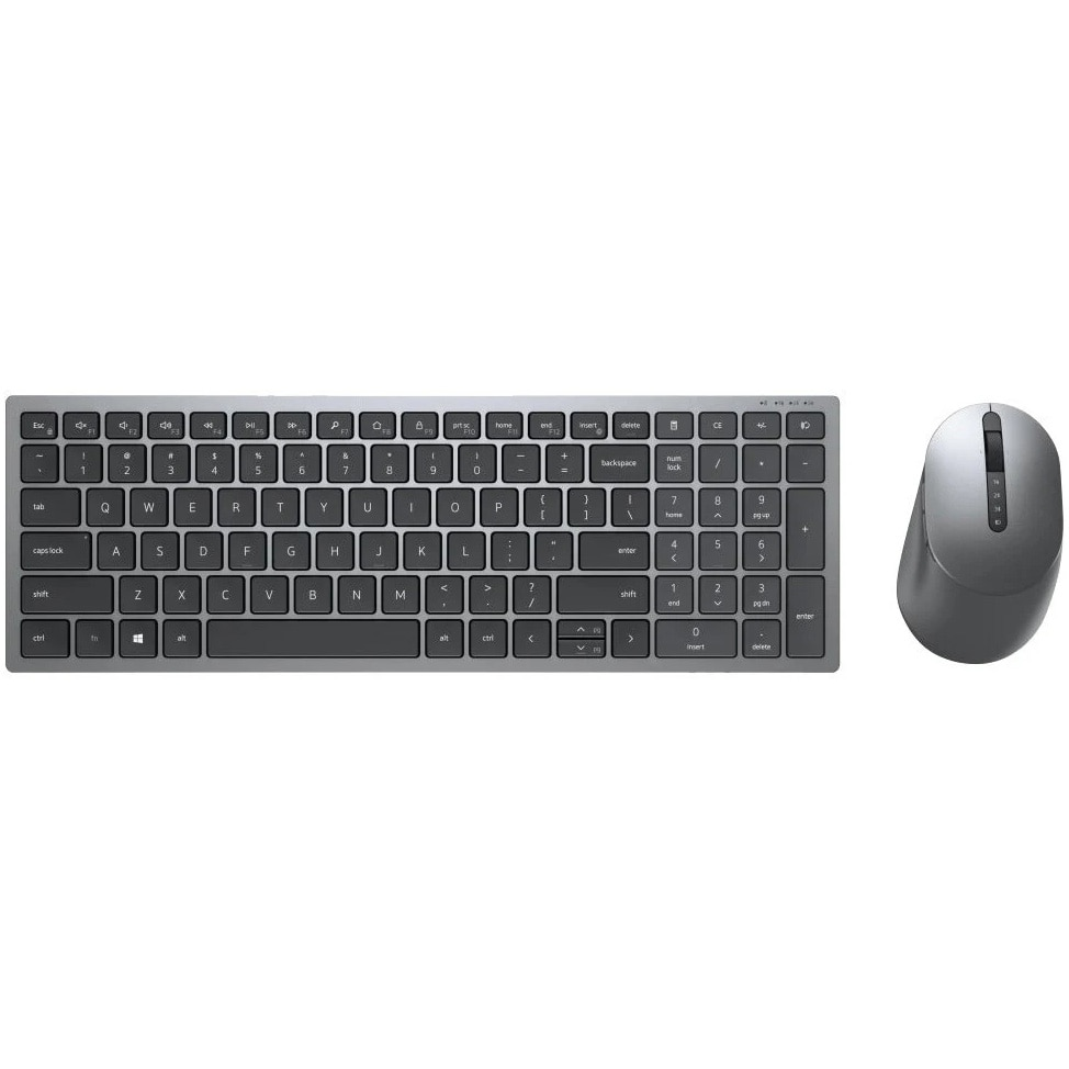 Fotografie Kit Tastatura + Mouse Dell Multi-Device KM7120W, 2.4GHz&Bluetooth 5.0, Layout US Intl