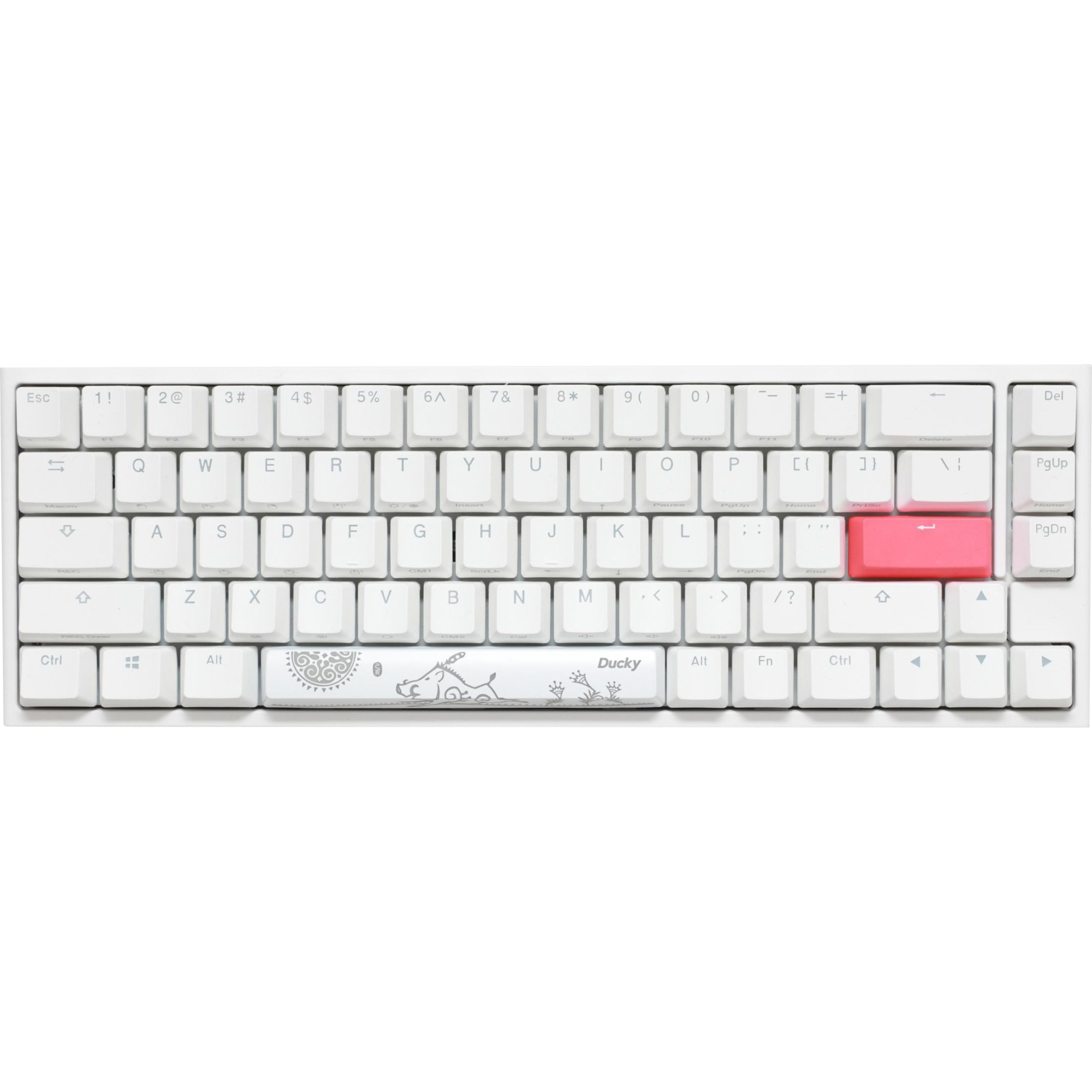 Fotografie Tastatura Mecanica Gaming Ducky One 2 SF RGB Pure White, switch Cherry MX Speed Silver