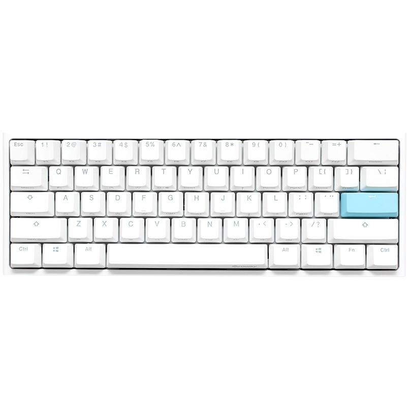 Fotografie Tastatura Mecanica Gaming Ducky One 2 Mini RGB Pure White, switch Cherry MX Silent Red