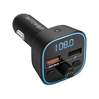 BlitzWolf BW-BC1 Bluetooth 5.0 FM transzmitter 2x USB + MicroSD, fekete