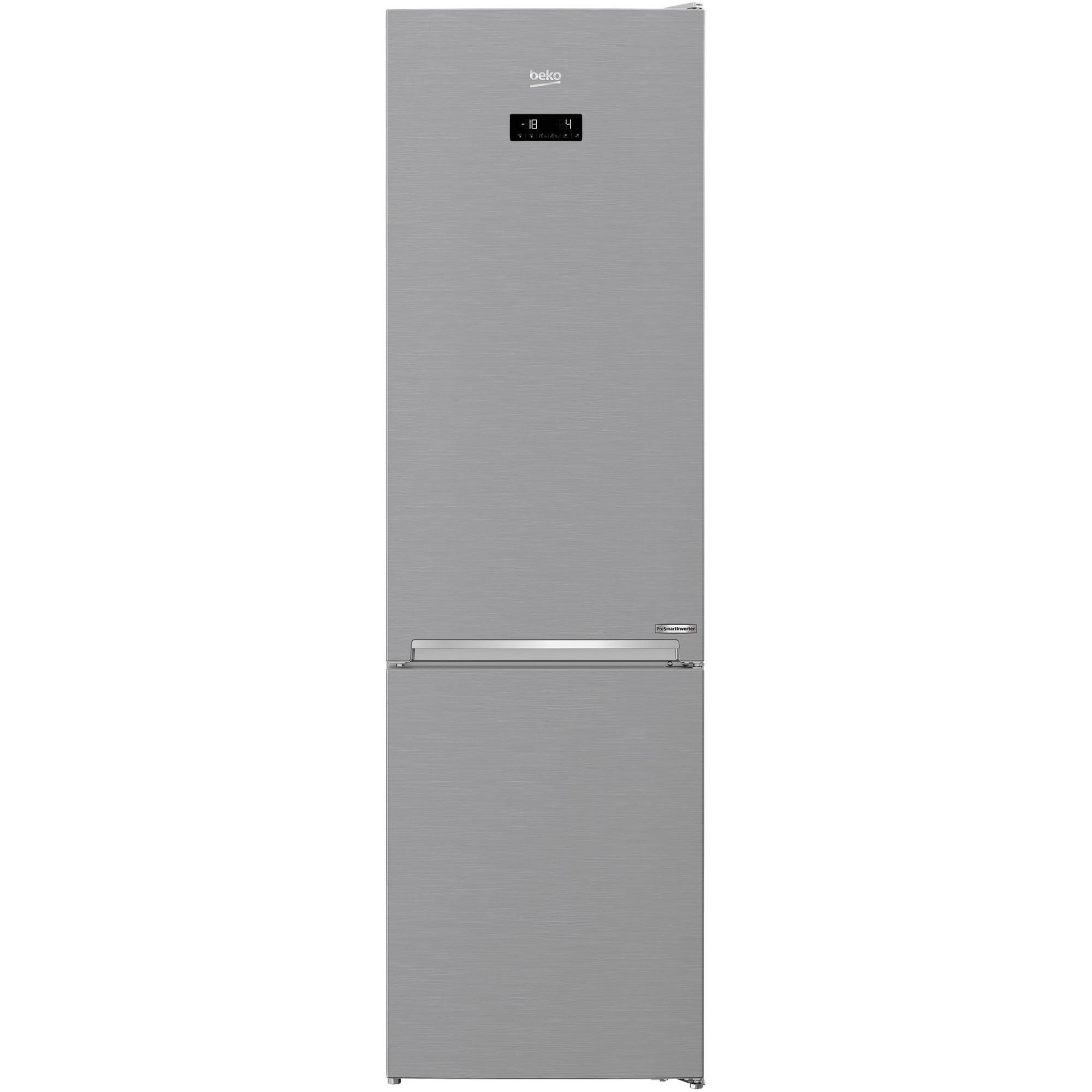Fotografie Combina frigorifica Beko Neofrost Dual Cooling RCNA406E60XBN, 362 l, NeoFrost, Display touch control, Raft sticle, Clasa C, H 203 cm, Argintiu