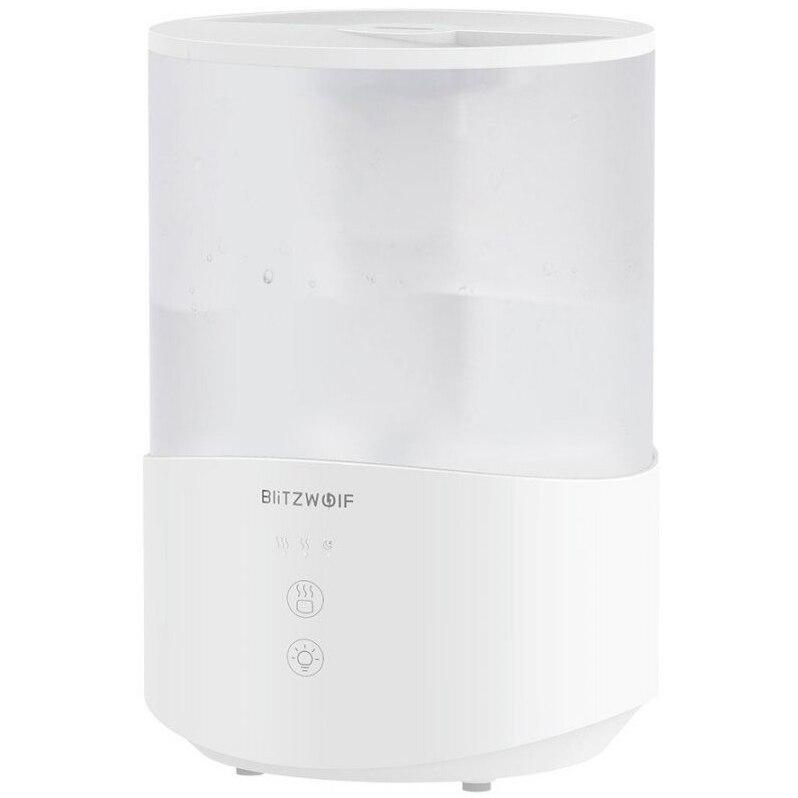 Fotografie Umidificator BlitzWolf BW-SH1, 2.5 l, Lampa LED RGB, Mod Noapte, Vibratii cu ultrasunete, Alb