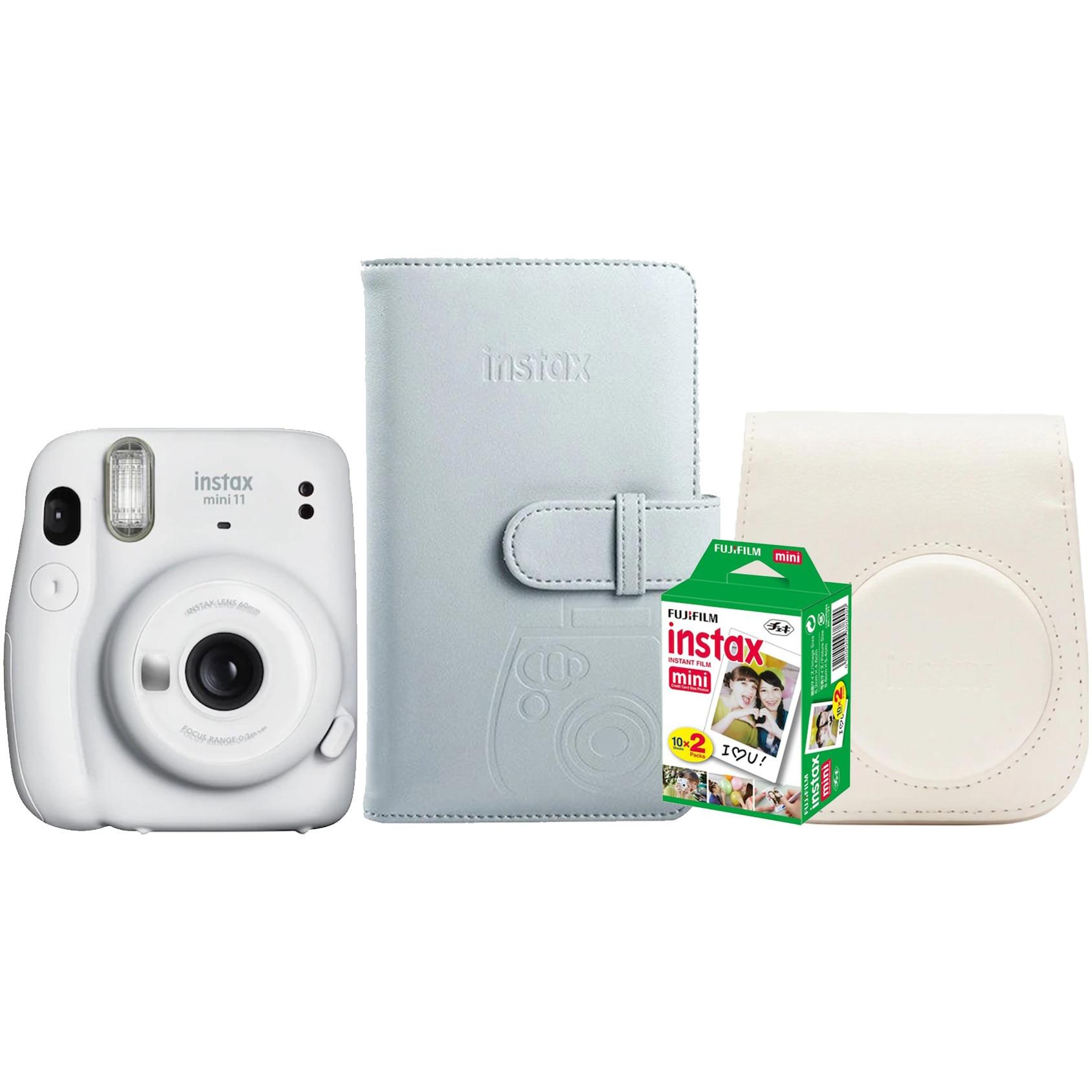 Fotografie Set Camera foto instant Fujifilm Instax Mini 11 Alb + Film + Husa + Album