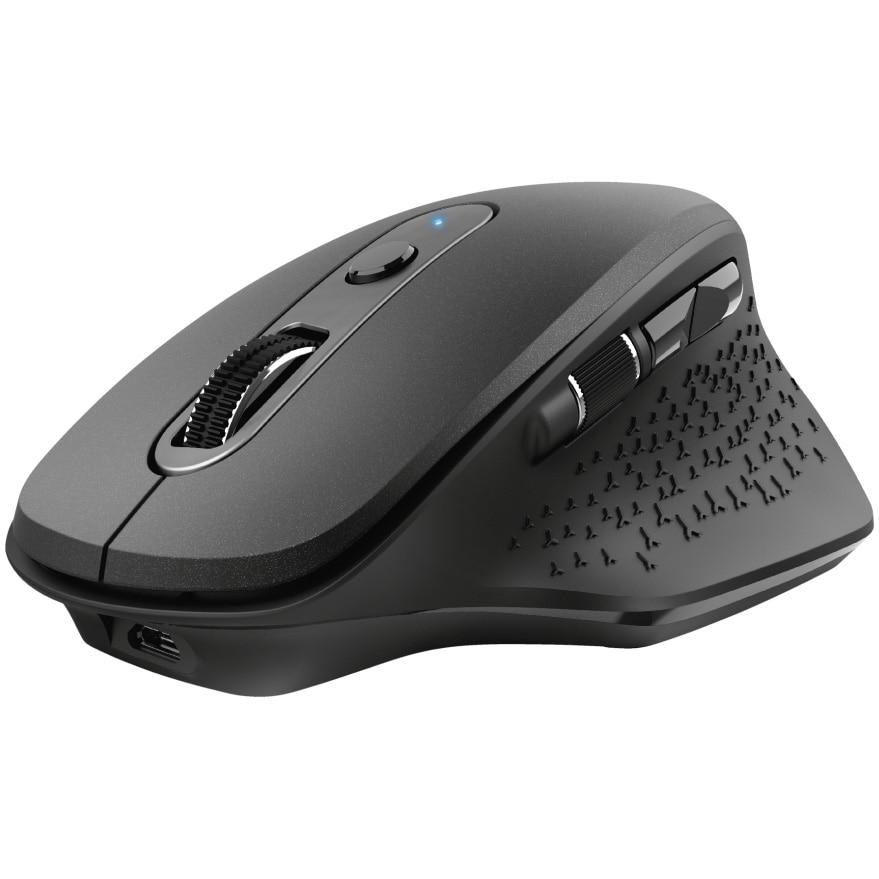 Fotografie Mouse wireless Trust Ozaa, ergonomic, dual scroll, reincarcabil, Negru