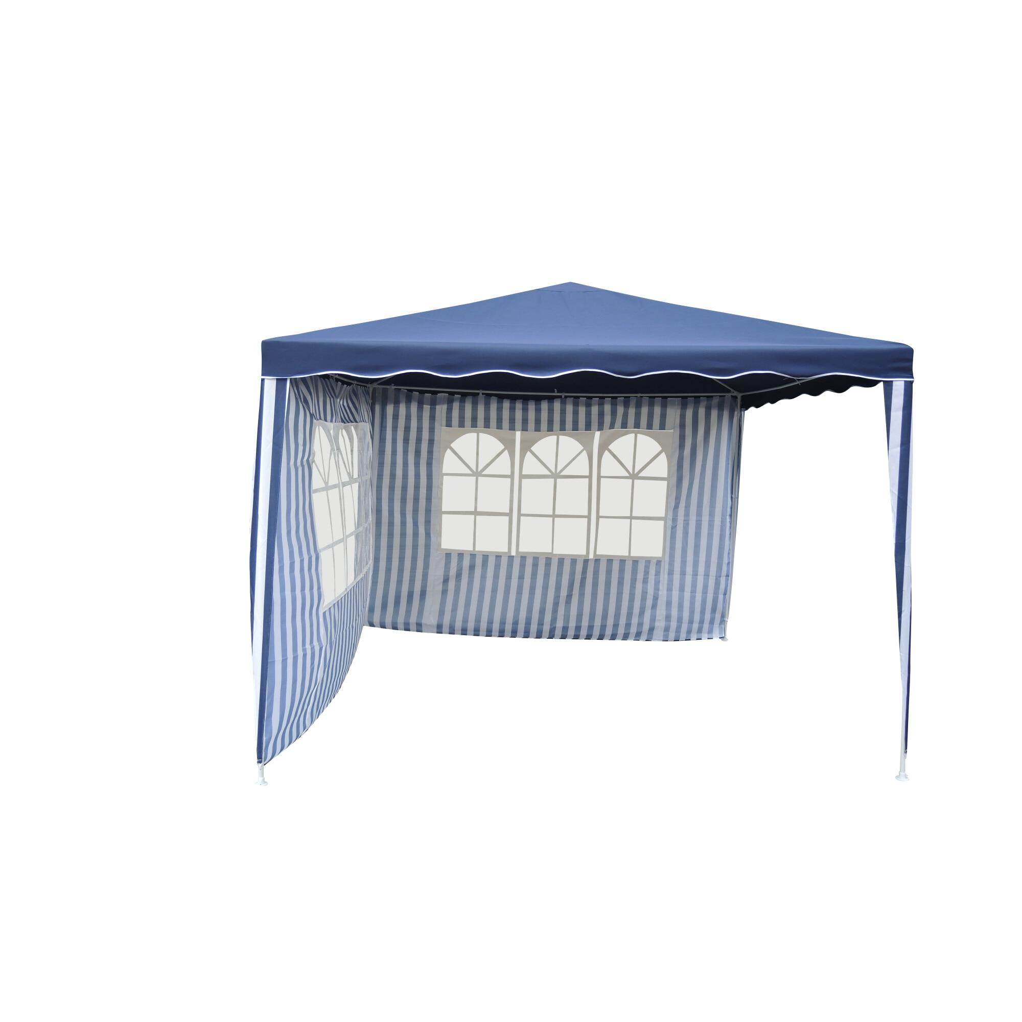 Fotografie Pavilion impermeabil Kring cu 2 pereti, 300x300 cm, Albastru