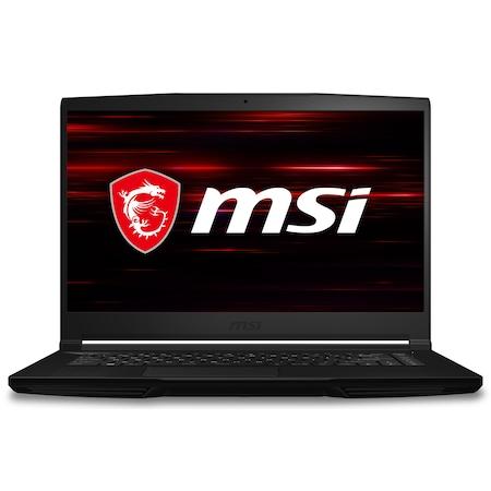 Лаптоп MSI GF63 Thin 10SCXR с Intel Core i7-10750H (2.6/5GHz, 12M), 8 GB, 512GB M.2 NVMe SSD, NVIDIA GTX 1650 4GB GDDR6, Windows 10 Pro 64-bit, черен