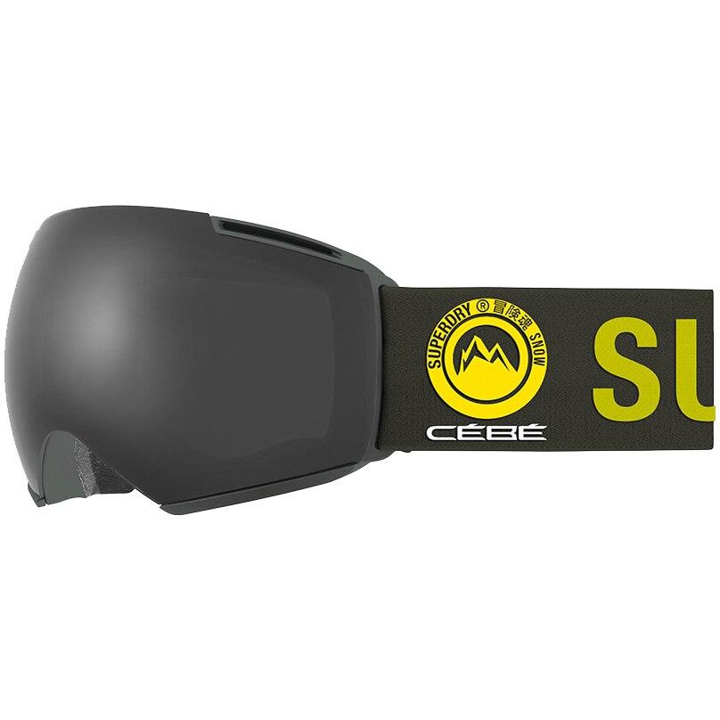 Fotografie Ochelari schi Superdry Icone, lentila S3 Matt Rosin Grey Ultra Black + lentila S1 Amber Flash Mirror