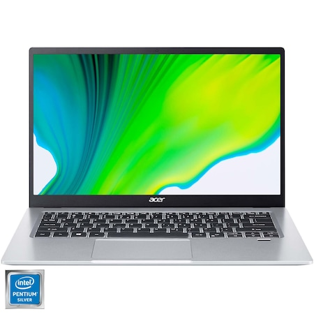 "Лаптоп Ultrabook Acer Swift 1 SF114-33, Intel® Pentium® Silver N5030, 3.10 GHz, 14"", Full HD, 8GB, 256GB SSD, Intel® UHD Graphics 605, No OS, Silver"