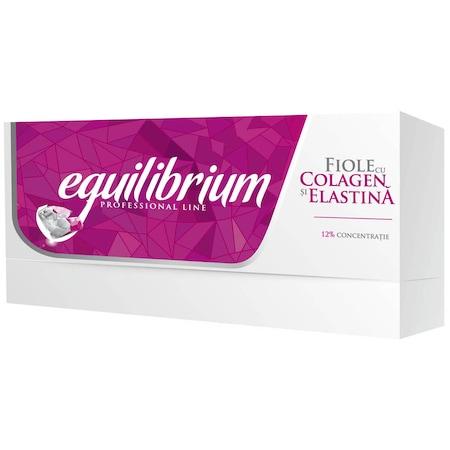 Fiole cu Colagen si Elastina Gerovital H3 Equilibrium, 20 buc x 2 ml