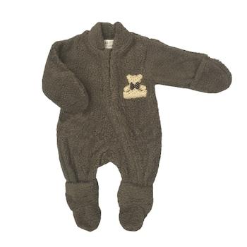 Гащеризон Little Star за бебе, Тъмнокафяв, 6-9 месеца