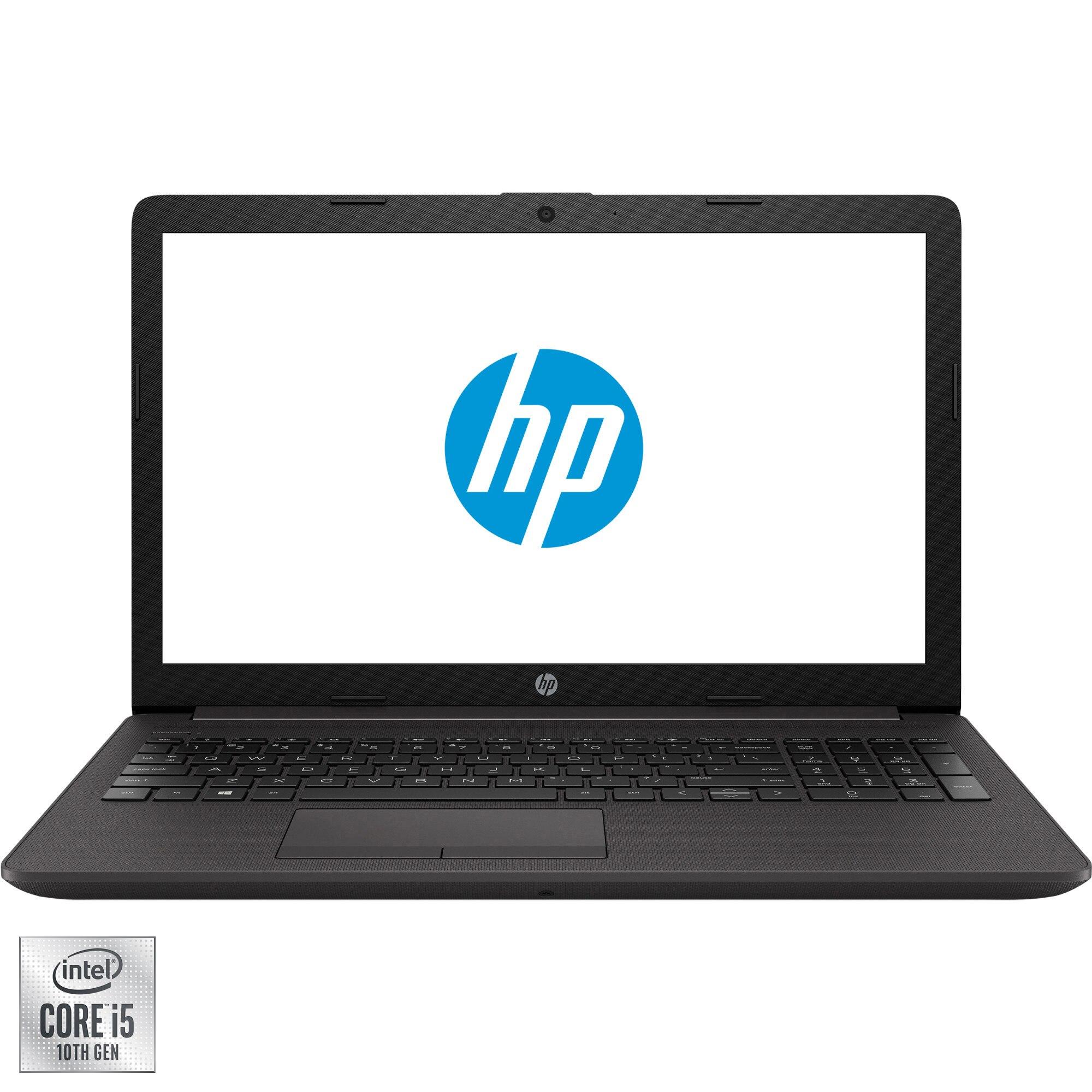 "Fotografie Laptop HP 250 G7 cu procesor Intel Core i5-1035G1 pana la 3.60 GHz, 15.6"", Full HD, 8GB, 256GB SSD, Intel UHD Graphics, Free DOS, Dark Ash Silver"