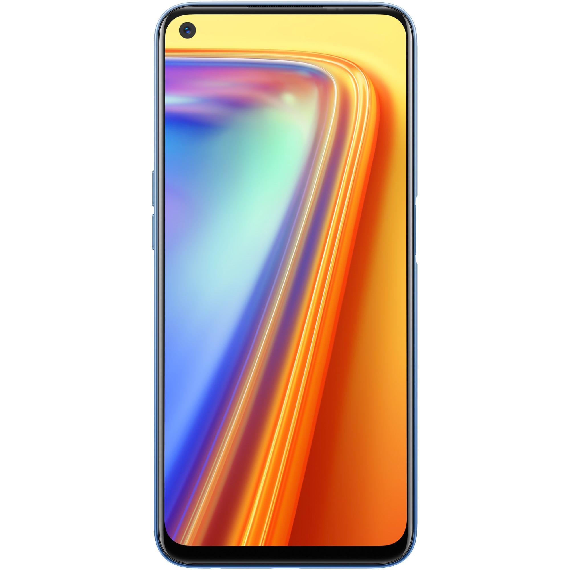 Fotografie Telefon mobil Realme 7, Dual SIM, 64GB, 6GB RAM, 4G, Mist Blue