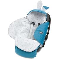 Autósülés burkolat, Bellochi, Utazási csomag 90x90 fehér / szürke, türkizkék Ocean blue