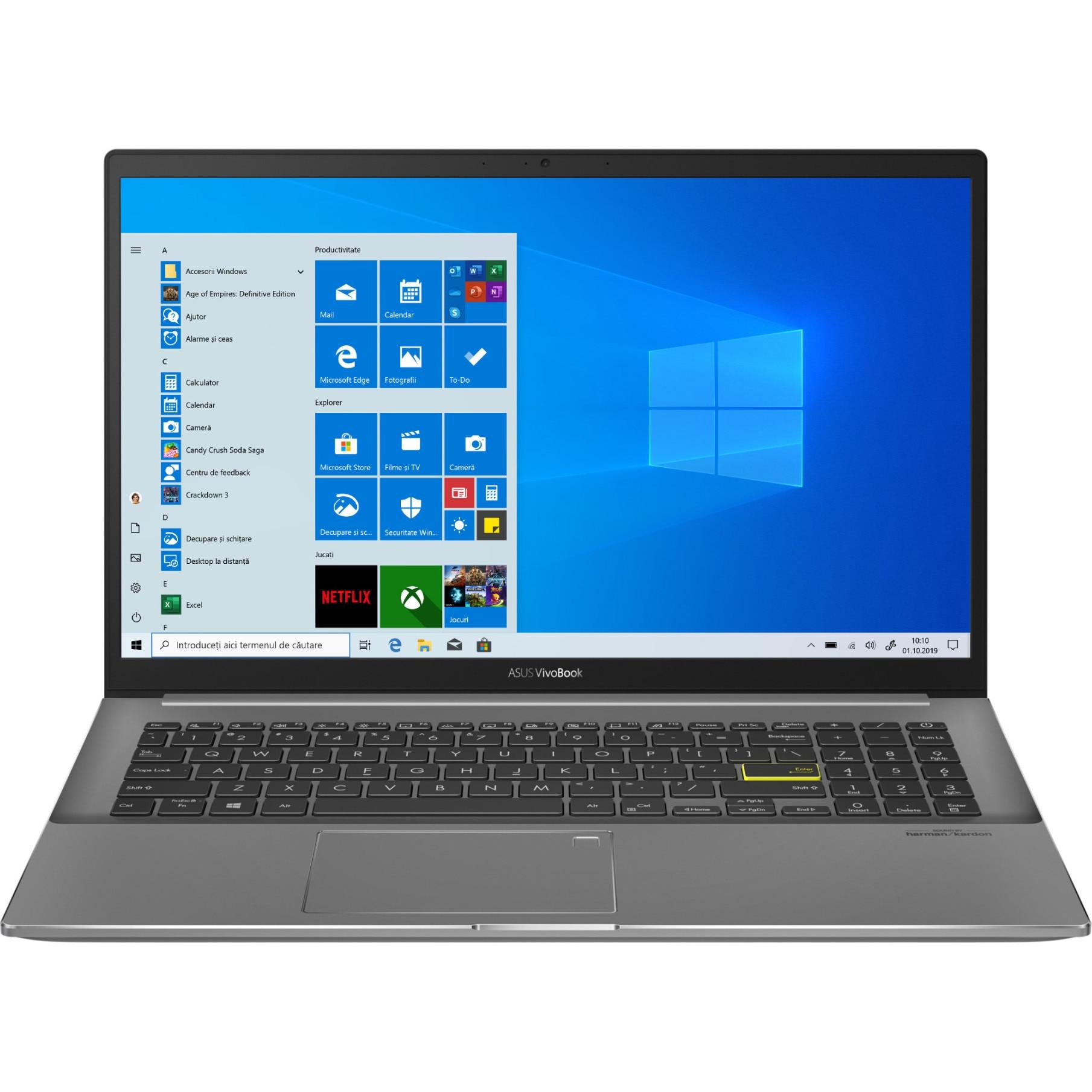 "Fotografie Laptop ASUS VivoBook S15 S533EA cu procesor Intel® Core™ i7-1165G7 pana la 4.70 GHz, 15.6"", Full HD, 8GB, 512GB SSD, Intel Iris Xᵉ Graphics, Windows 10 Home, Indie Black"
