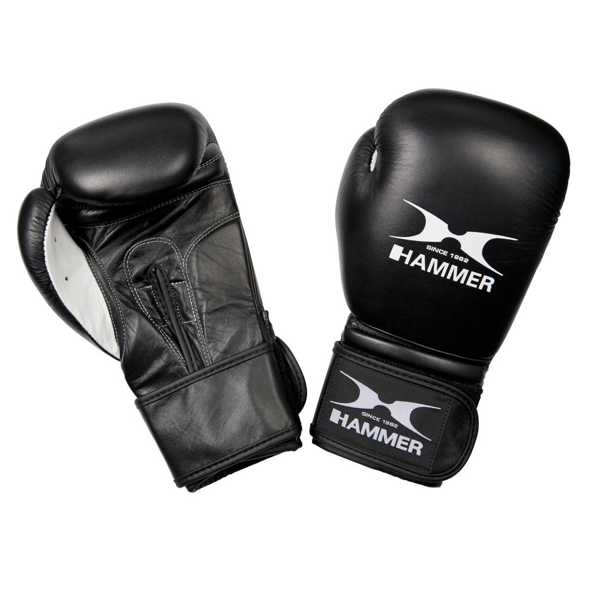 Fotografie Manusi box Hammer Premium Fight, negru, Negru, 16 Oz