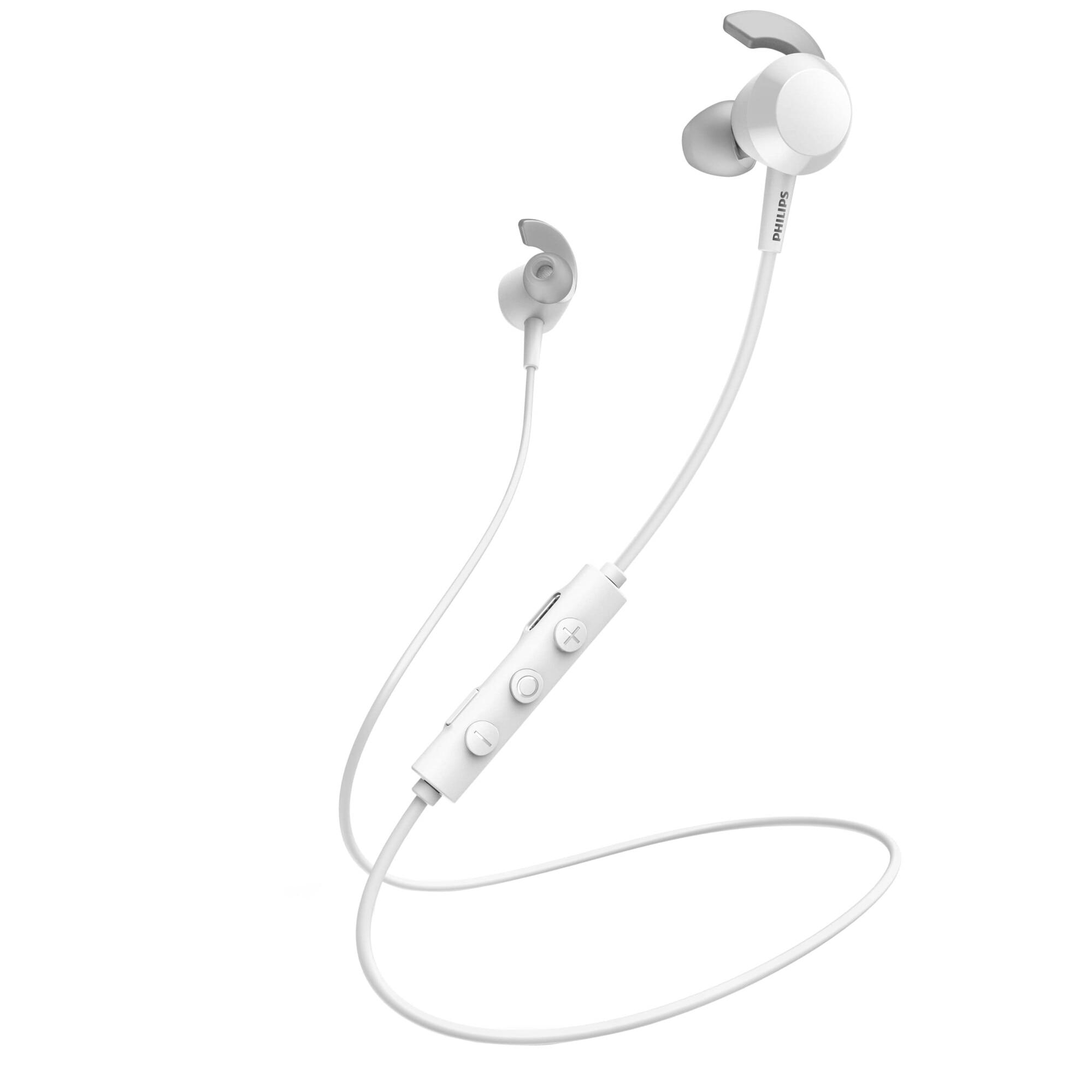 Fotografie Casti Audio In-Ear Philips, TAE4205WT/00, Bluetooth, Autonomie 10h, Alb