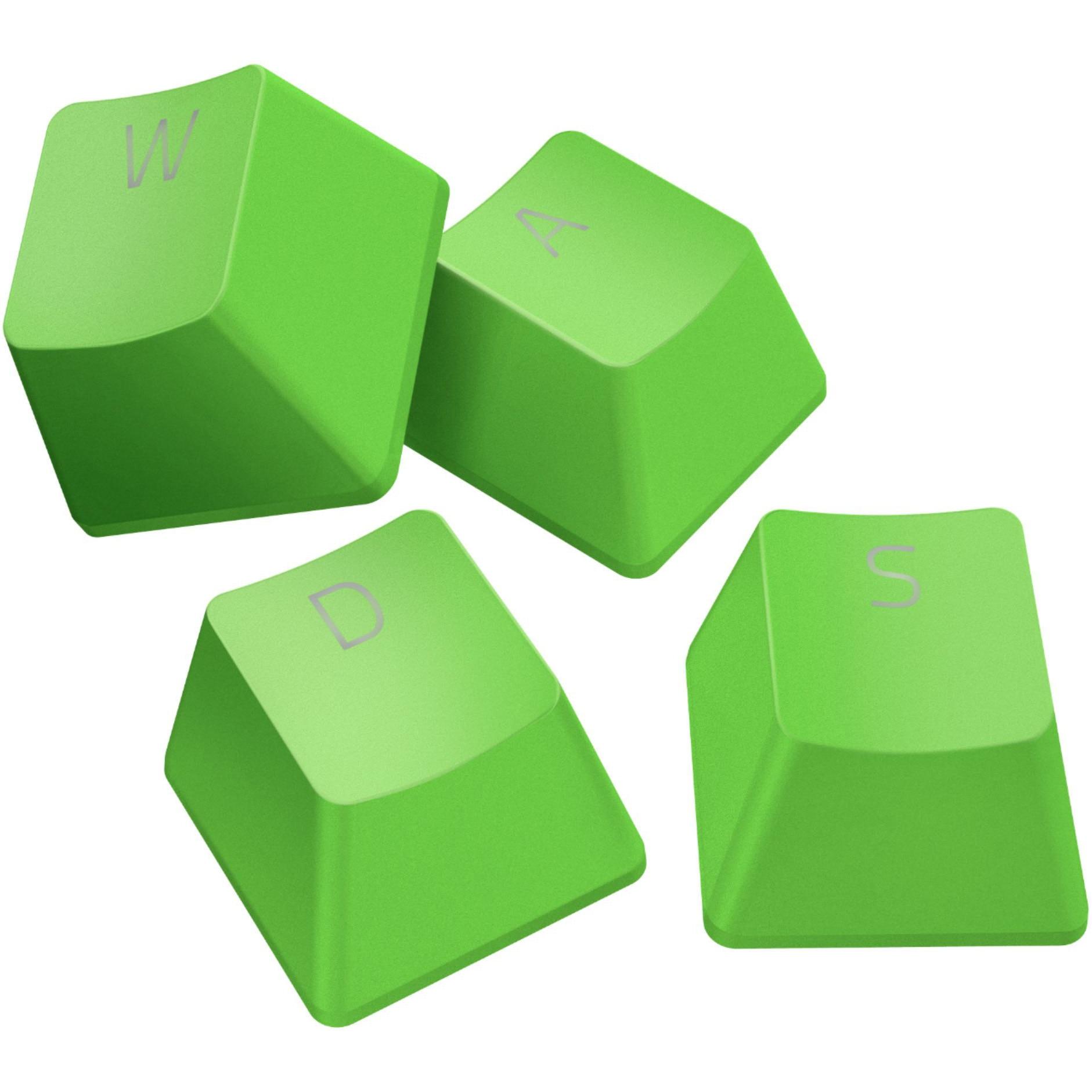 Fotografie Kit butoane tastatura Razer PBT Doubleshot, compatibile switch mecanic si optic Razer - Green