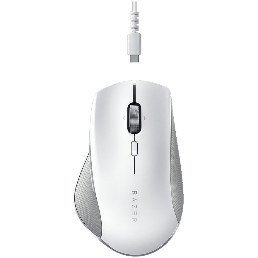 Fotografie Mouse wireless Razer Pro Click, ergonomic, multidevice, 2.4GHz&Bluetooth, Alb