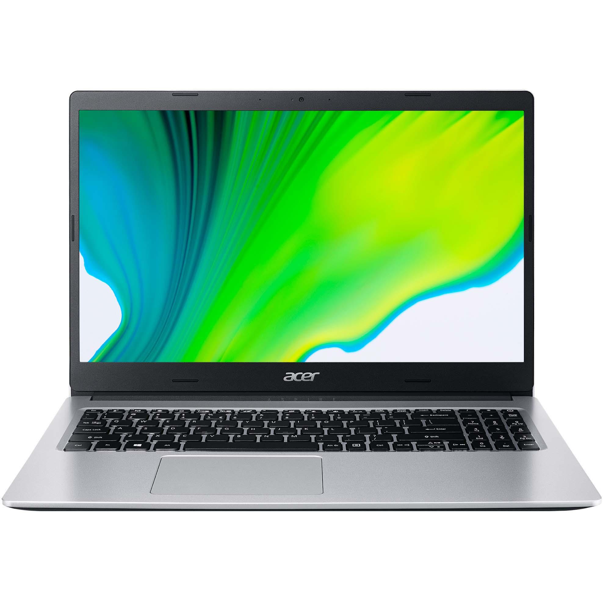 "Fotografie Laptop Acer Aspire 3 A315-23G cu procesor AMD Ryzen 5 3500U pana la 3.70 GHz, 15.6"", Full HD, 8GB, 256GB SSD, AMD Radeon Graphics, No OS, Silver"
