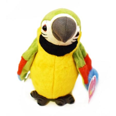 Beszélő plüss papagáj / mozgatja a szárnyait-zöld