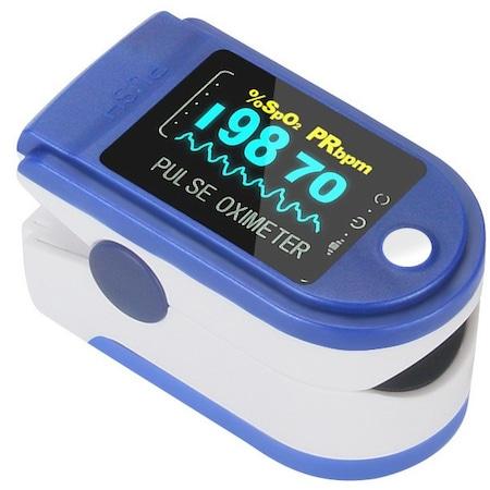 Hordozható véroxigénmérő és pulzusmérő OLED kijelzővel Pulzoximéter