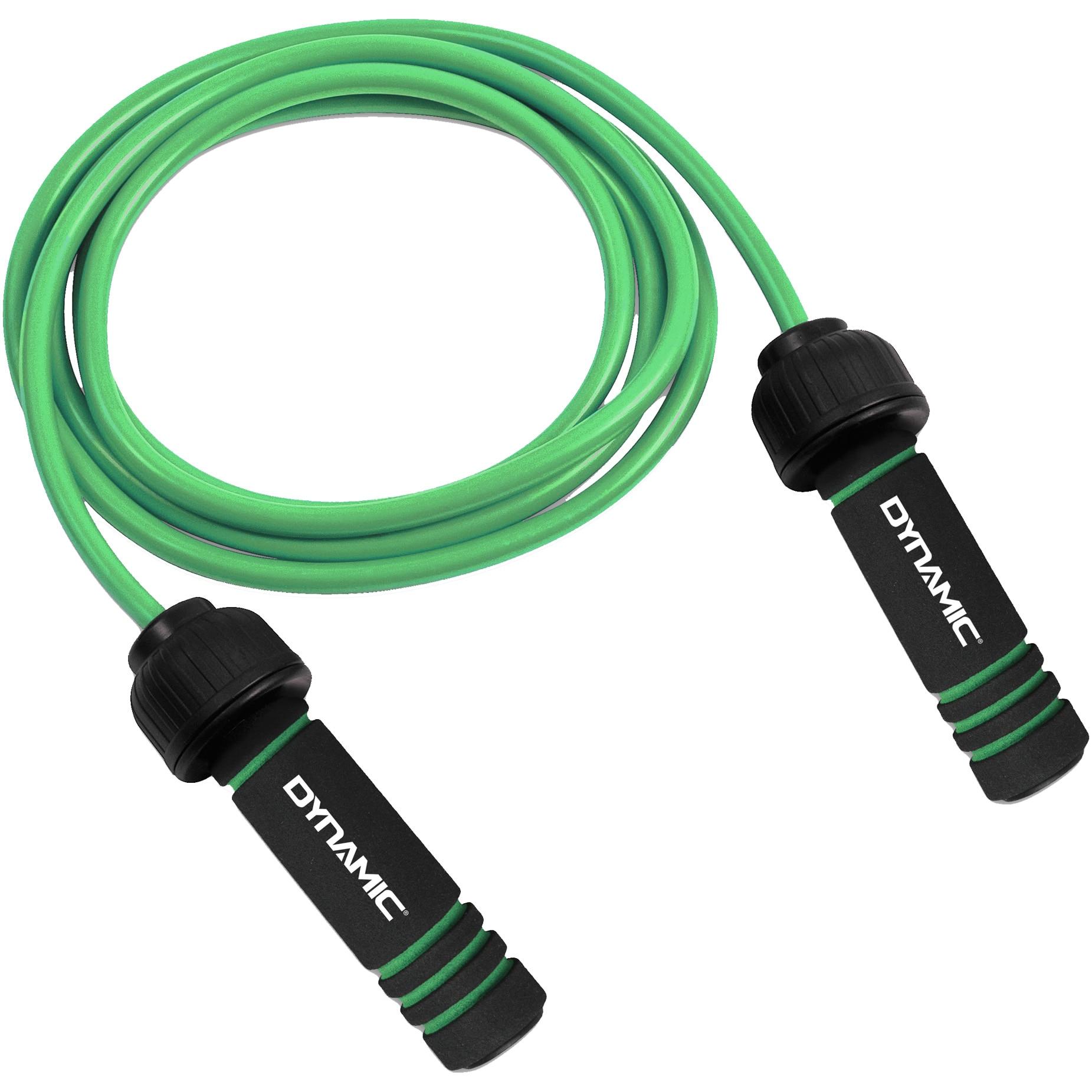 Fotografie Coarda pentru sarit, Dynamic, material: PP+burete, coarda din PVC, 2.7 m, verde