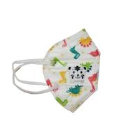Детска маска за лице OEM, С клапан, 5 слоя, Идивидуално опаковани, Модел динозавър