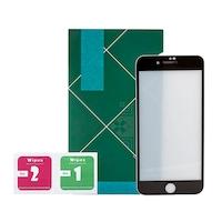 Стъклен протектор за iPhone SE 2020, 3D Full, Японски, Брониран, Със защитна мрежа на слушалката, Черен