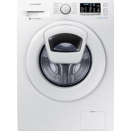 Masina de spalat rufe Samsung WW70K5210WW/LE, 1200 RPM, 7 kg, Clasa A+++, Eco Bubble, AddWash, Motor Digital Inverter, Alb