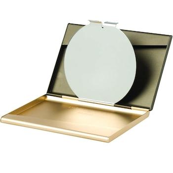 Suport business LEXON pentru carti de vizita, cu oglinda, auriu discret (designed by Pauline Deltour)
