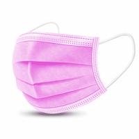 Pink 4 rétegű szájmaszk készlet, 50db/csomag, Rózsaszín