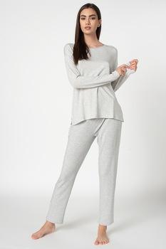 Triumph, Csíkos pizsama, 3XL, Melange szürke