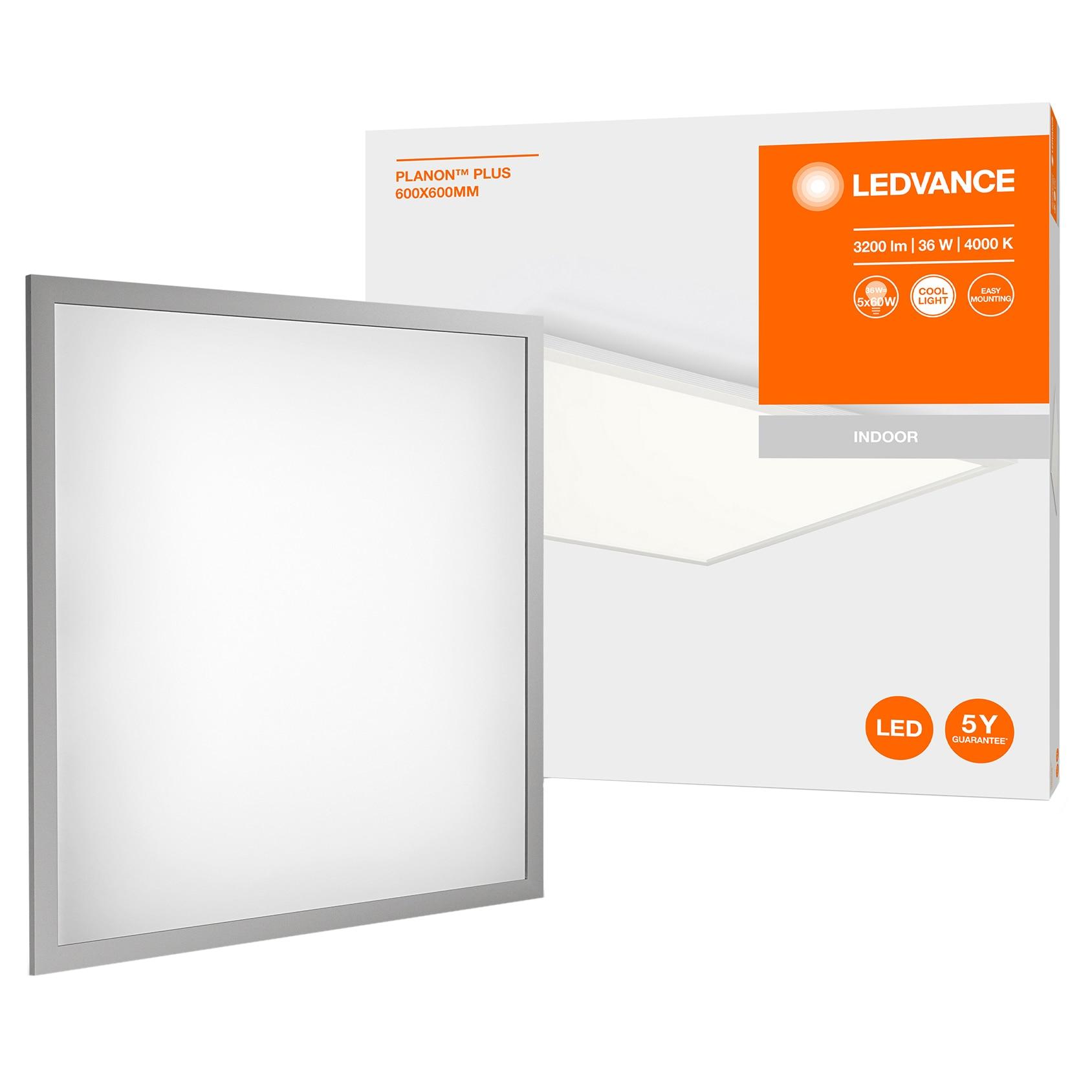 Fotografie Panou LED Ledvance Planon Plus, 36W, montaj aplicat, 3200 lm, lumina neutra (4000 K), IP20, 595x595x46.6 mm
