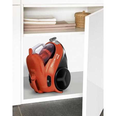 Aspirator fara sac Rowenta Compact Power RO3724, 750 W, Clasa A , 1.5 L, Filtru de inalta eficienta, Rosu