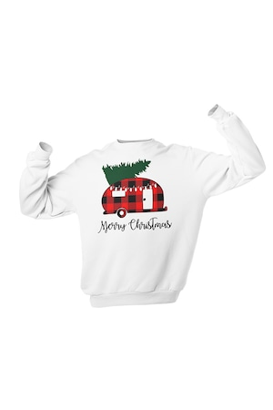 Bluza Femei de Craciun, Merry Christmas 2, Alb