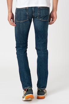 Gant, Прилепнали дънки със захабен ефект, 38, Тъмносин / Мръснобял