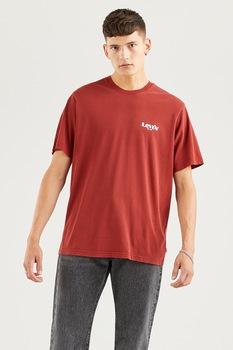 Levi's, Mintás póló hímzett részlettel, Téglavörös