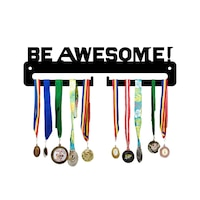 Закачалка за медали JJDisplays, Метални, черен, Be Awesome!