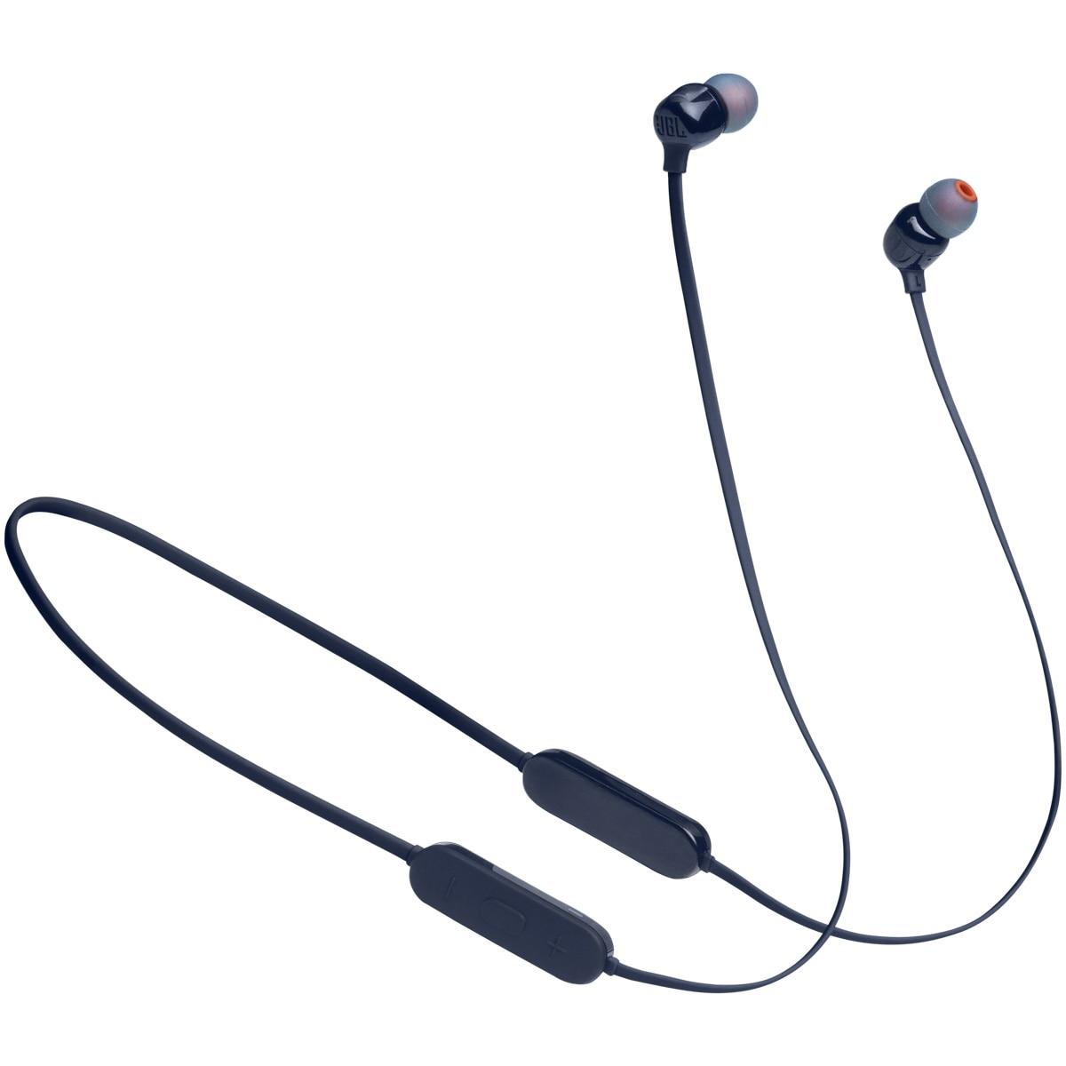 Fotografie Casti audio in-ear JBL Tune 125, Bluetooth, Asistent vocal, Pure Bass, 16 h, Multi-point, Albastru
