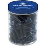 Schneider töltőtoll patron, 100 db, Kék
