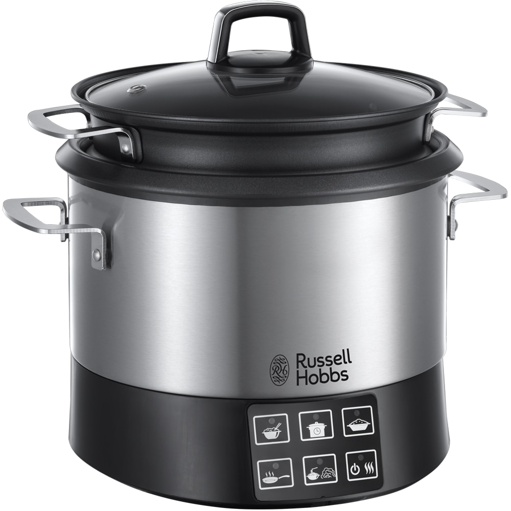 Fotografie Multicooker Russell Hobbs 23130-56 Cook@Home, 1000W, 4.5 l, 8 programe, Slow cook, Mentinere la cald, Cos aburi, Inox