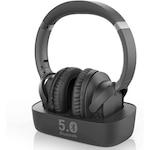 Bluetooth 5.0 Avantree Ensemble HT5150 fejhallgató 2in1 Bluetooth adóval (Digital Optical AUX RCA) és töltőállomással, késés nélkül, 35 órás akkumulátor-üzemidő, fekete