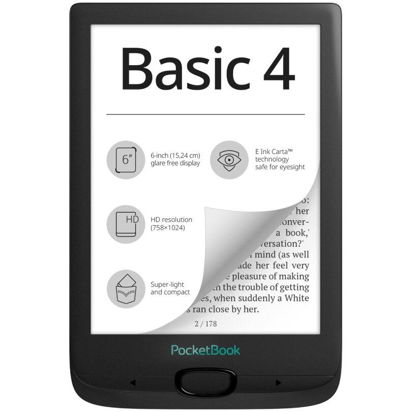 "Fotografie eBook Reader PocketBook Basic 4, 6"" E Ink Carta™, 8GB + slot microSD, Negru"