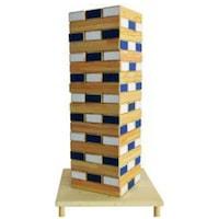 Mega Tower Jenga instabil fa játék 54 darab tarka magasság 48,6 cm
