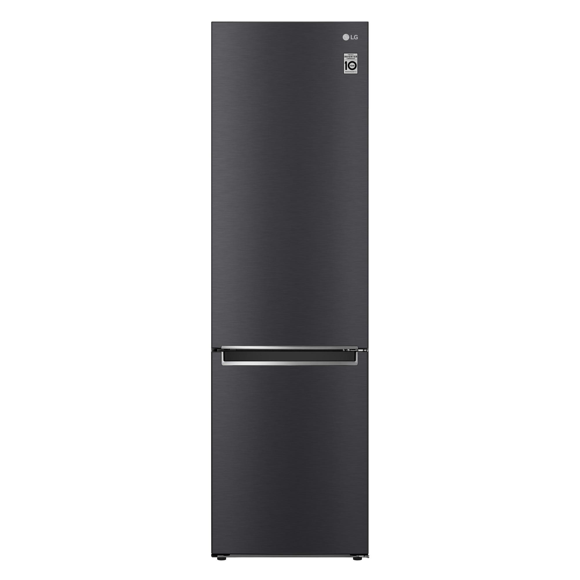 Fotografie Combina frigorifica LG GBB62MCJMN, 384 l, Clasa A++, No Frost, Smart Diagnosis, H 203 cm, Negru