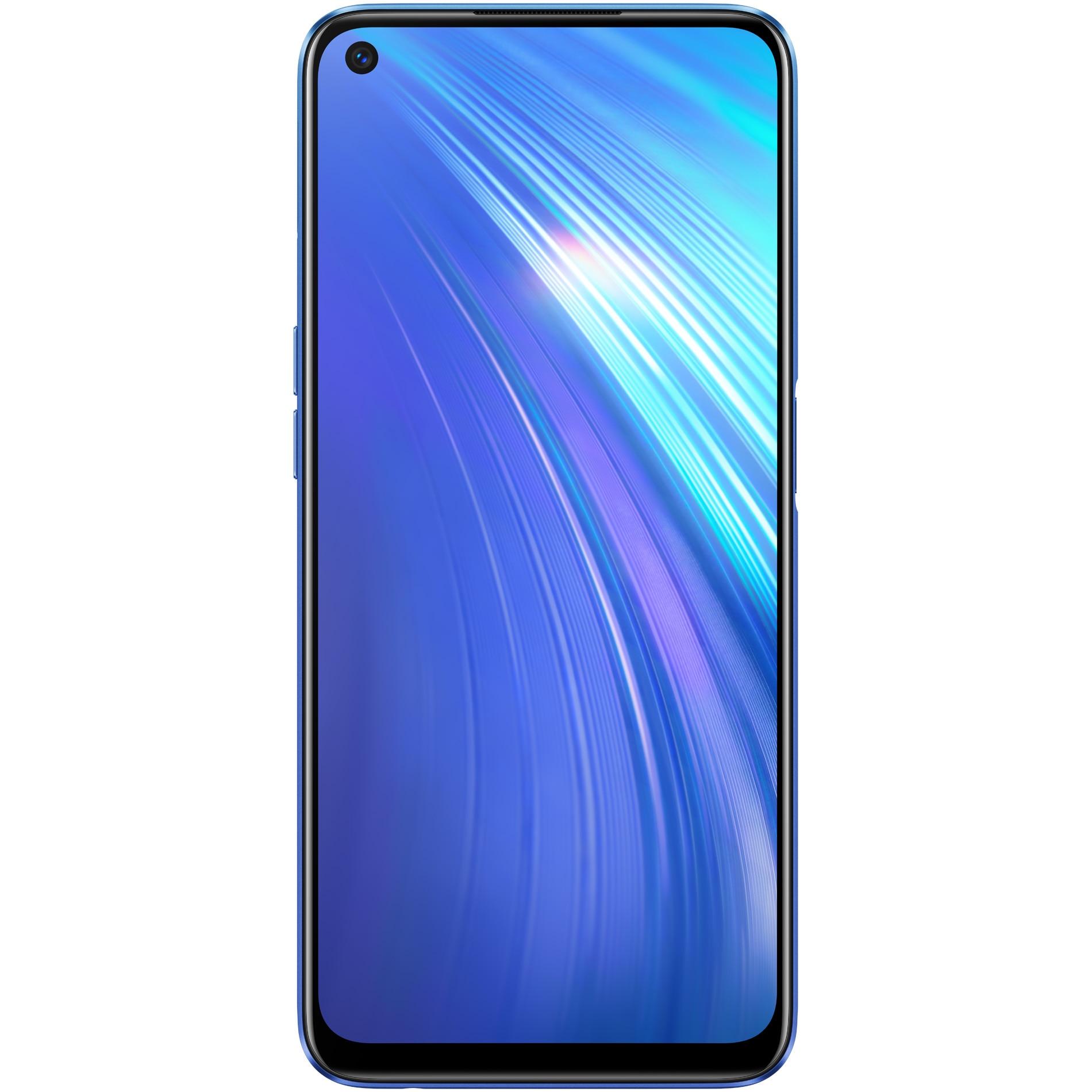Fotografie Telefon mobil Realme 6, Dual SIM, 128GB, 8GB RAM, 4G, Comet Blue