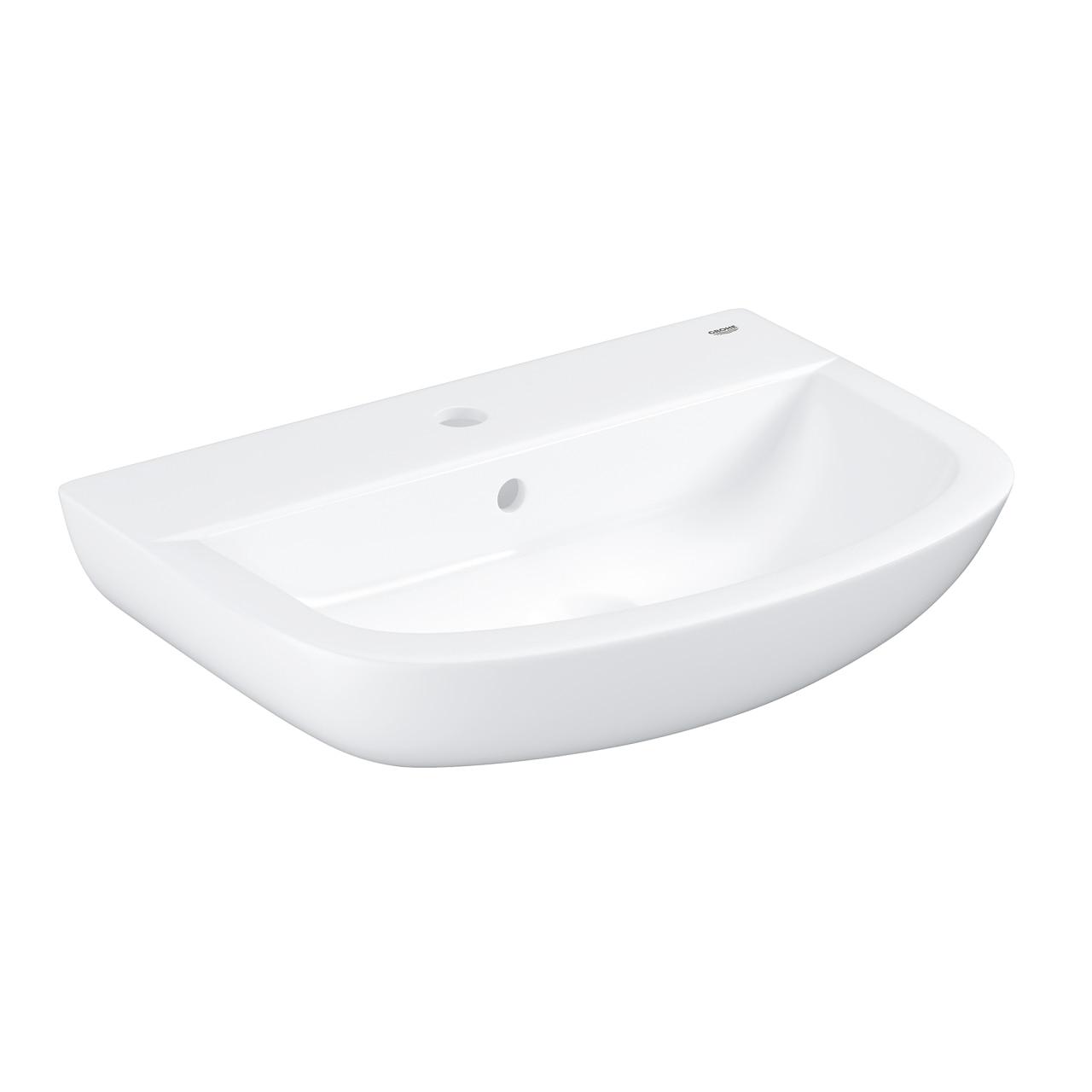 Fotografie Lavoar (chiuveta baie) Grohe Bau 39440000, preaplin, 550 x 390 mm, Alb